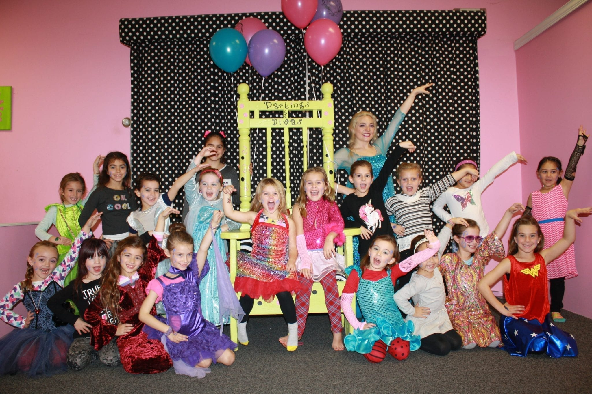 girls princess birthday parties long island darlings divas party at divas