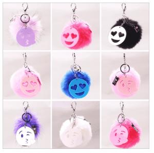 Pom Pom Emoji Key Chains
